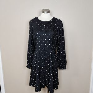 Loft polka dot dress - size 8